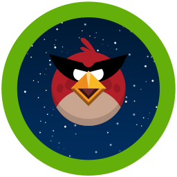 angry, birds, game, space icon
