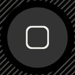 home button, ipad, ipod icon