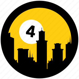city, sim icon
