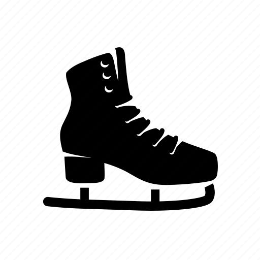 christmas, ice, new-year, skates, winter icon