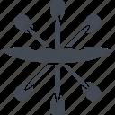 canoe, olympics, paddle, rowing icon
