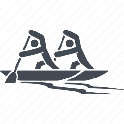 rowing, rowing sports, sports, water icon
