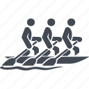 growing, rowing, rowing sports, water icon