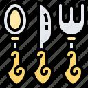cutlery, fork, knife, silverware, spoon