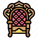 armchair, coronation, luxury, seat, throne icon
