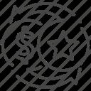 exchange, exclusive, member, points, token, transfer, vip icon