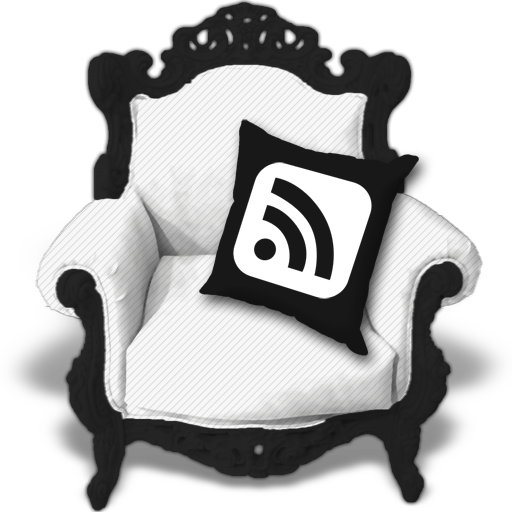 b&w, rss icon