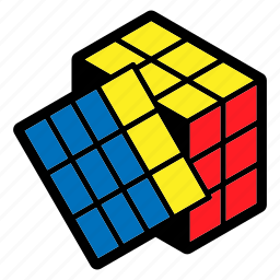 children, game, position, problem solving, puzzle, rubik's cube, toy icon