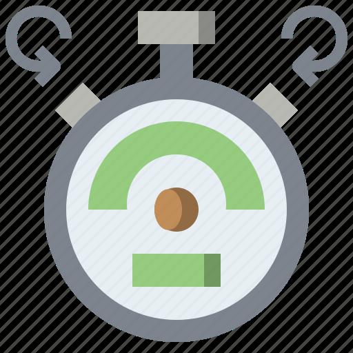 interface, stopwatch, timer, utensils, wait icon
