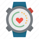 heart, sports, time, watches, wristwatch