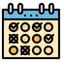 calendar, date, schedule, time, training icon