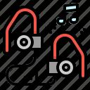 audio, competition, earphone, headphones, sports icon