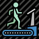 fitness, gym, sports, training, treadmill icon