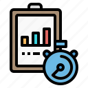 chart, cone, schedule, traffic, training icon