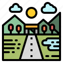 location, maps, race, route, way icon