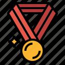 gold, medal, running, success, winner icon