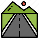 location, road, route, running, way icon