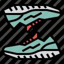 running, shoes, sportswear, training, women icon