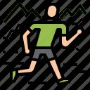 adventure, racing, run, running, trail icon
