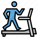 exercise, gym, running, treadmill, workout icon