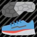 running, shoes, sportswear, training, wear icon