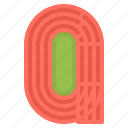 field, running, sport, stadium, track icon