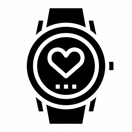 heart, plus, rate, smart, watch icon