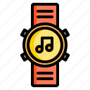 fitness, health, music, run, smart, sport, watch icon
