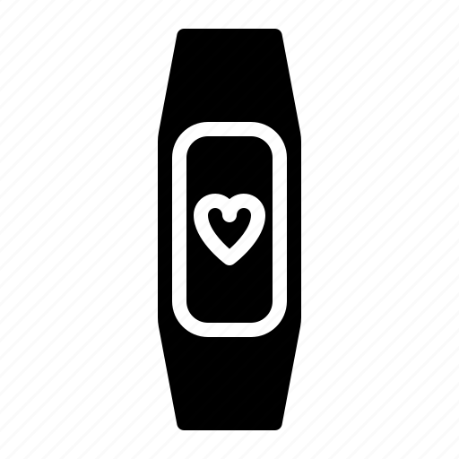 fitness, health, heart, rate, run, smart, watch icon