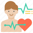 heart, male, man, rate icon