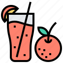 beverage, healthy, juice, orange, water icon
