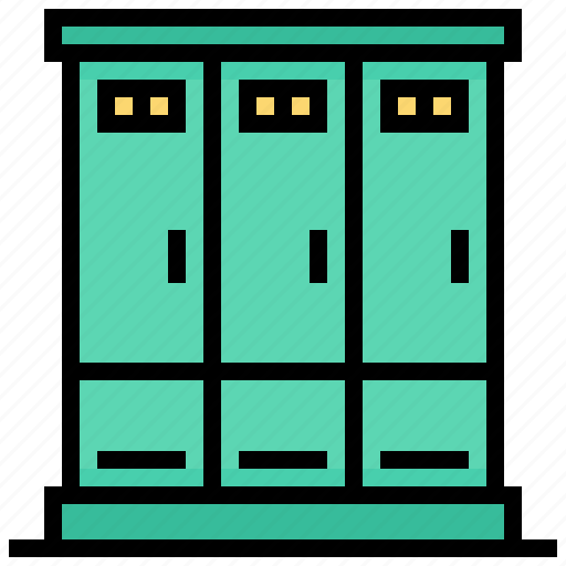 cabinet, locker, sport, storage icon