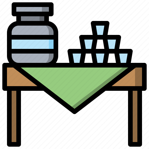 Area, drinking, relax, table, water icon - Download on Iconfinder