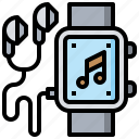 audio, multimedia, music, smartwatch, technology icon