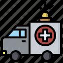 ambulance, carvehicle, emergency, hospital, medical, transportation icon