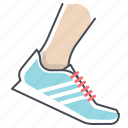 fitness, marathon, running, sports, sprint, footwear, shoes icon
