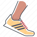 fitness, footwear, race, running, shoes, sport, workout icon