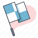 checkered flag, checkpoint, marathon, race, sports, start, workout icon