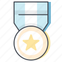 award, badge, first, gold medal, marathon, sprint, winner icon