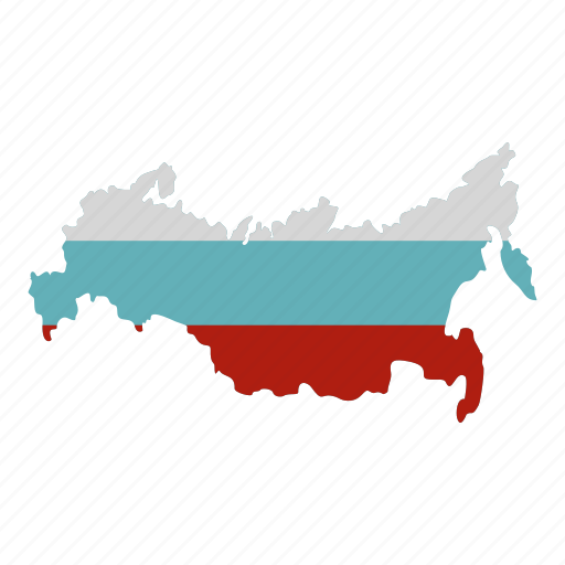 Cartography, flag, nation, national, russia map, shape, travel icon - Download on Iconfinder
