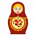 babushka, blossom, bright, child, culture, decoration, matrioshka icon