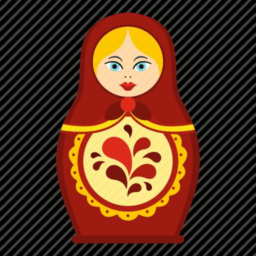 Babushka, blossom, bright, child, culture, decoration, matrioshka icon - Download on Iconfinder