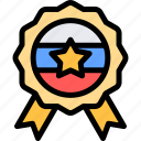 country, europe, medal, russia icon