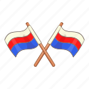 flag, national, country, russian icon