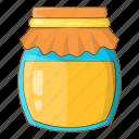 apiary, bee, honey, jar