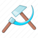 hammer, sickle, tool, ussr icon
