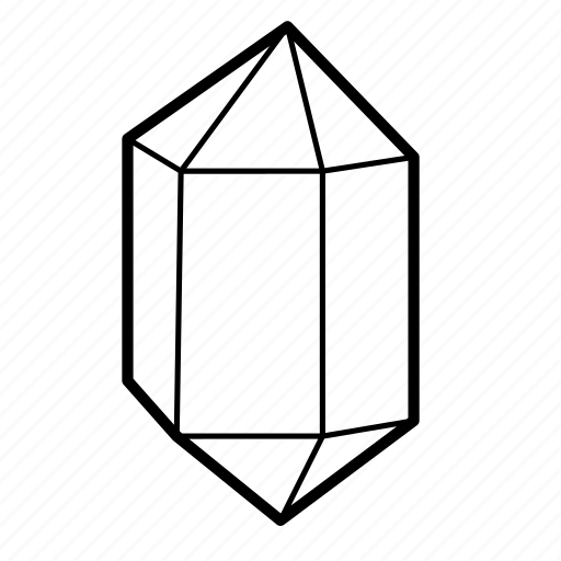 crystal, figure, logo, mineral, shape, wealth icon