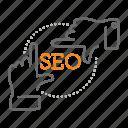brand, design, focus, goal, seo, target icon