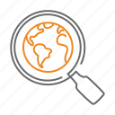 planet, search, global, find, globe, zoom icon