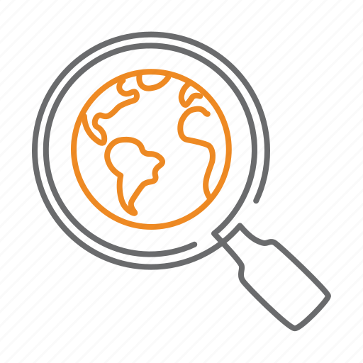 find, global, globe, planet, search, zoom icon